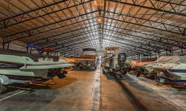 Boat storage at Glacier West Self Storage in Belfair, Washington