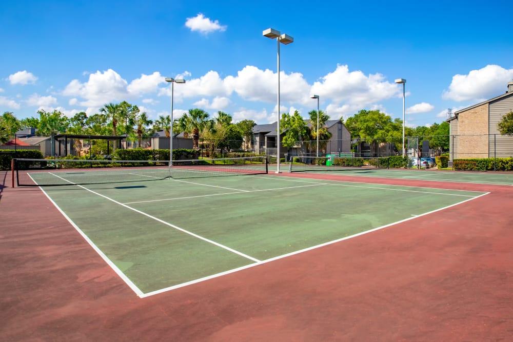 Tennis court at 2400 Briarwest in Houston, TX