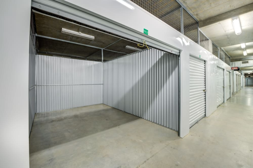 Storage unit from left side at Farmers Market Self Storage in Los Angeles, CA