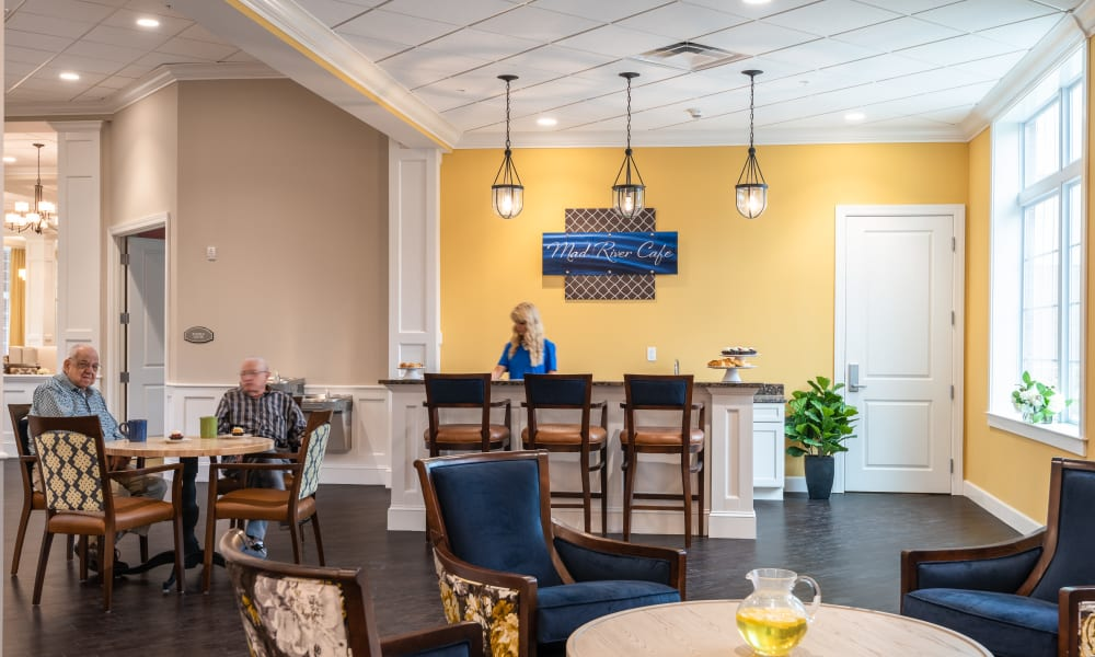 Independent living dining room at a Randall Residence community