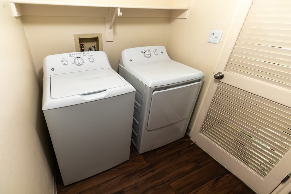 Washer and dryer at Shadowbrook Apartments in West Valley City, Utah