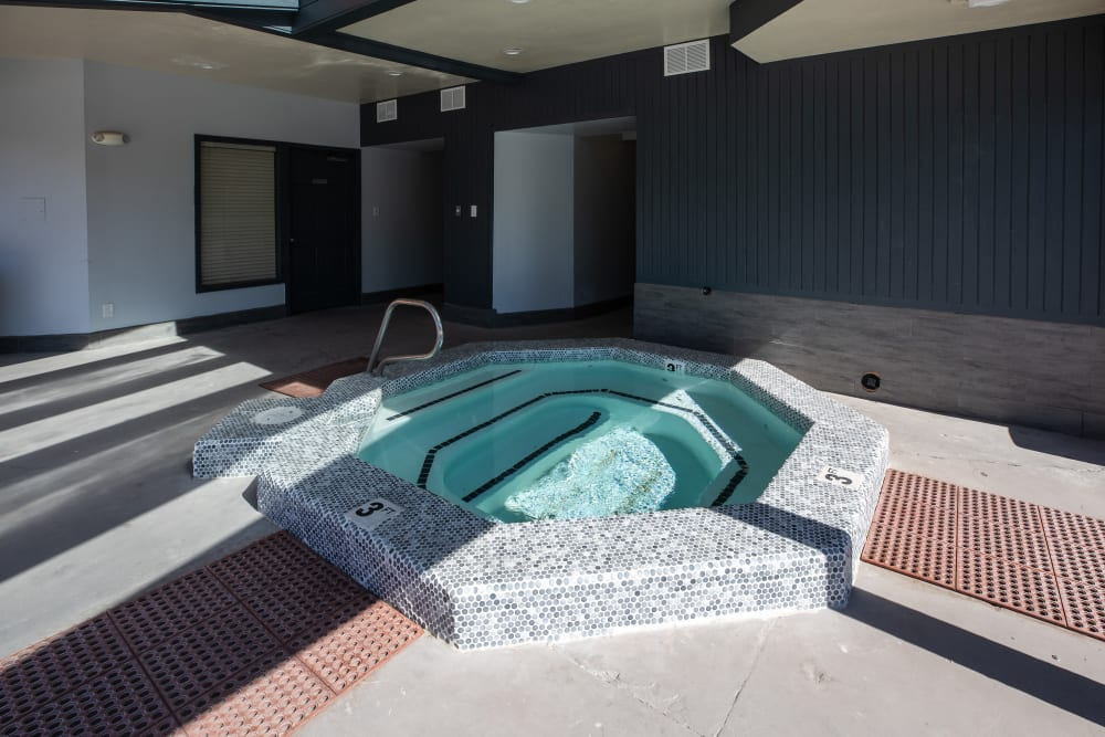 Relaxing hot tub at Shadowbrook Apartments in West Valley City, Utah