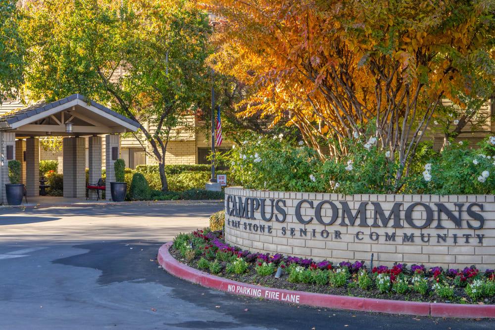 Exterior of Campus Commons Senior Living's building in Sacramento, California
