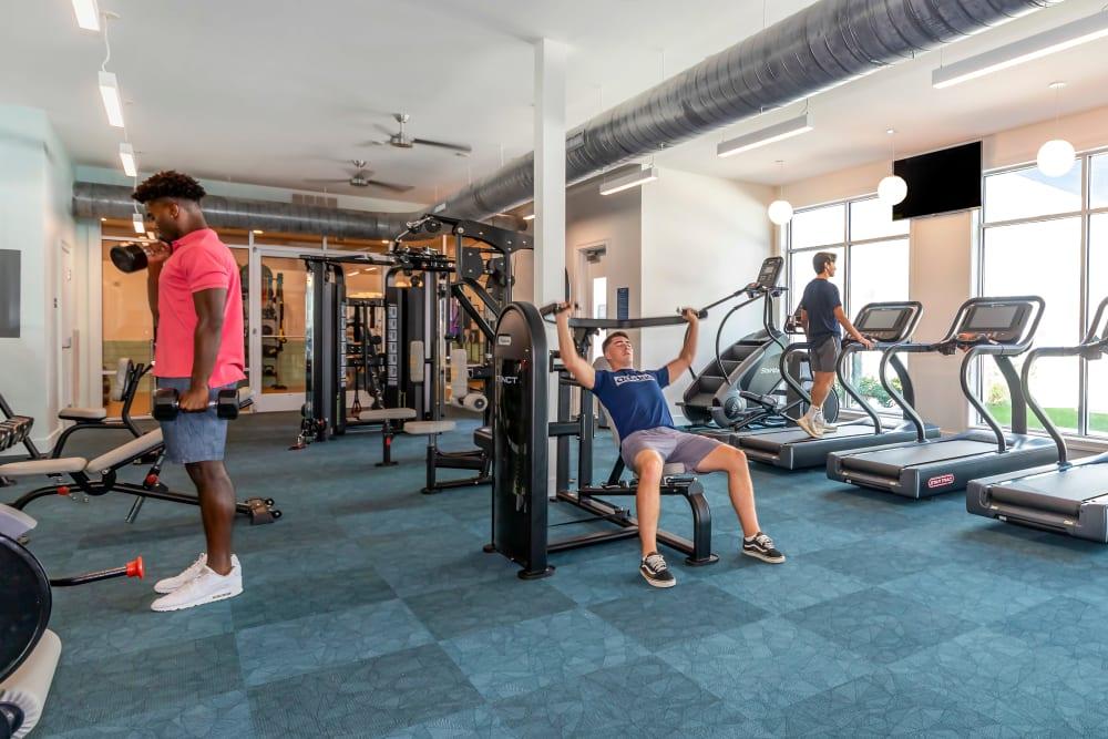 Fitness center at UNCOMMON Wilmington in Wilmington, North Carolina