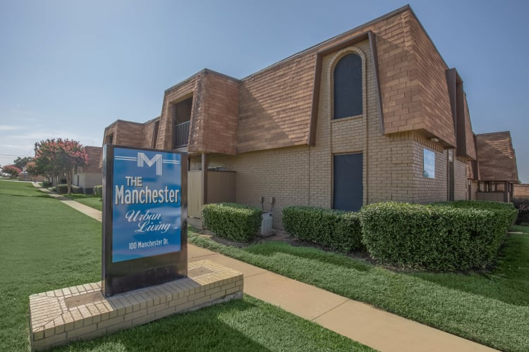 Exterior of The Manchester Apartments in Euless, Texas