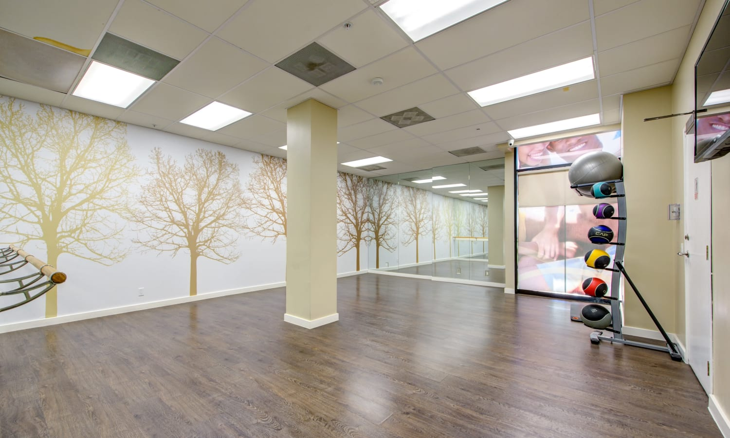 Yoga/Dance Room at Sofi at 3rd in Long Beach, CA