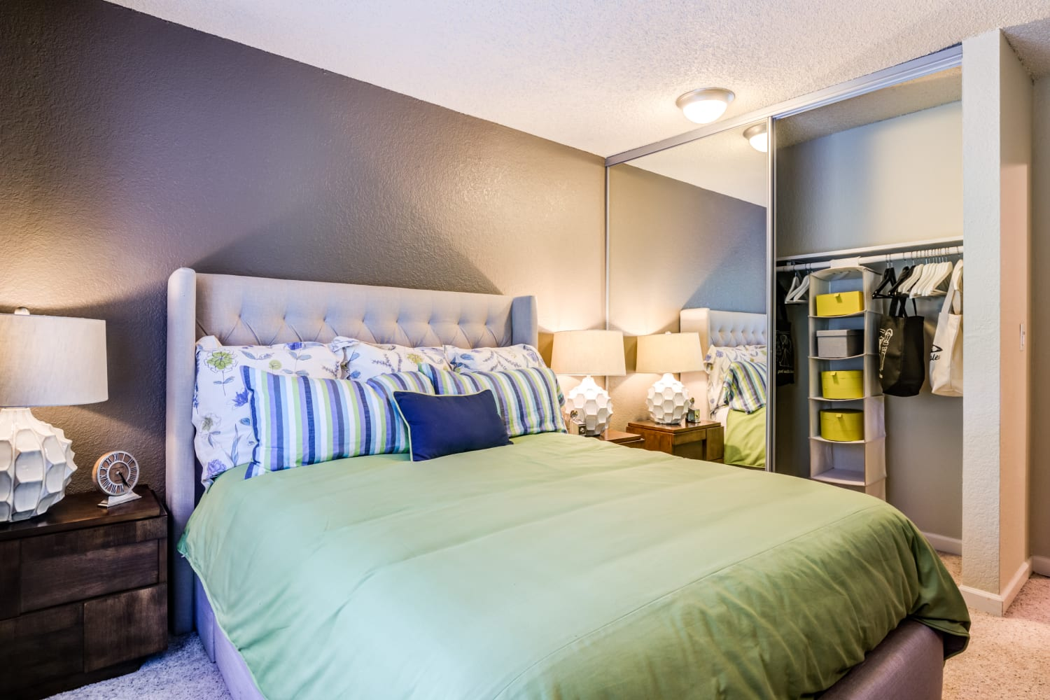Bedroom at Vue Kirkland Apartments in Kirkland, Washington