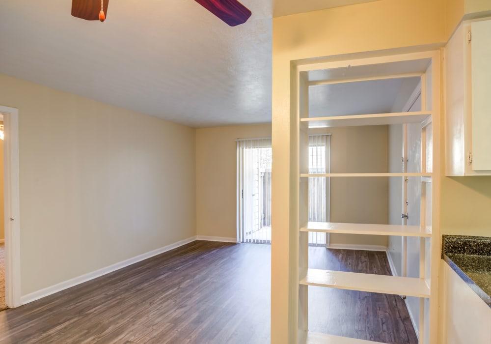 Unique living room at Riverstone Apartments, TX
