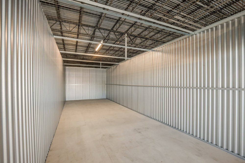 View inside unit at Pearman Dairy Self Storage in Anderson, SC