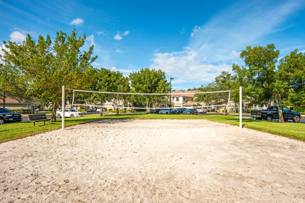 Volleyball court at apartments in Palm Beach Gardens, Florida