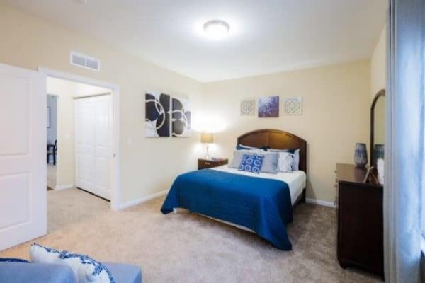 Bedroom at Torrente Apartment Homes in Upper St Clair, Pennsylvania