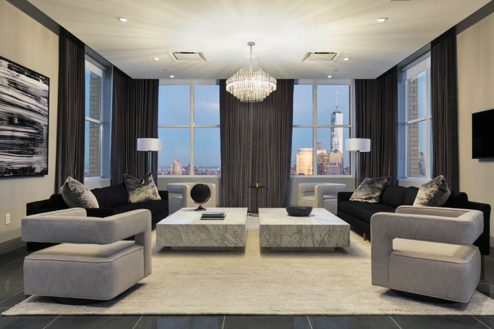 View the community amenities at Trump Bay Street in Jersey City, New Jersey