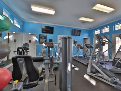 Fitness center at Avery Park Apartment Homes in Silver Spring, Maryland