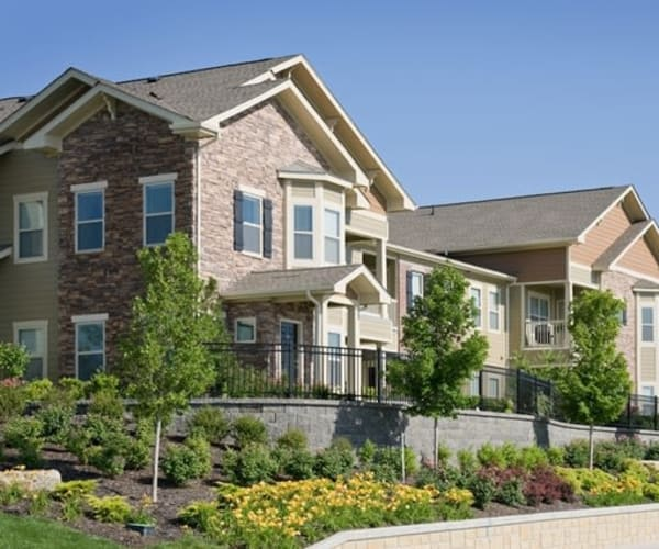 Apartment exterior at The Sovereign at Overland Park in Overland Park, Kansas