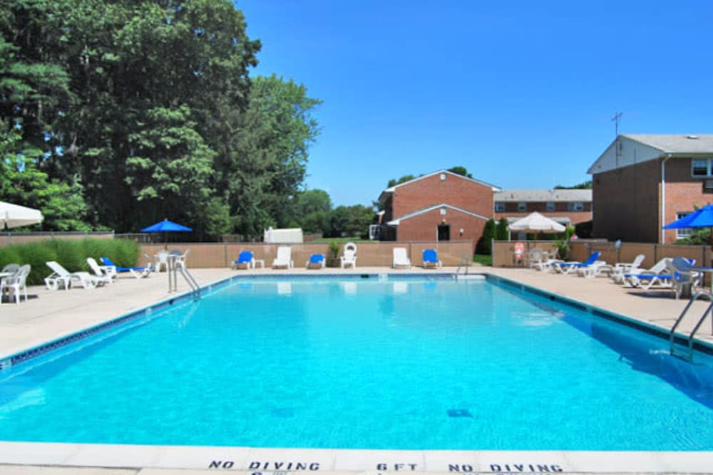 Beautifully swimming pool at The Manor at Spring Lake in Spring Lake, New Jersey