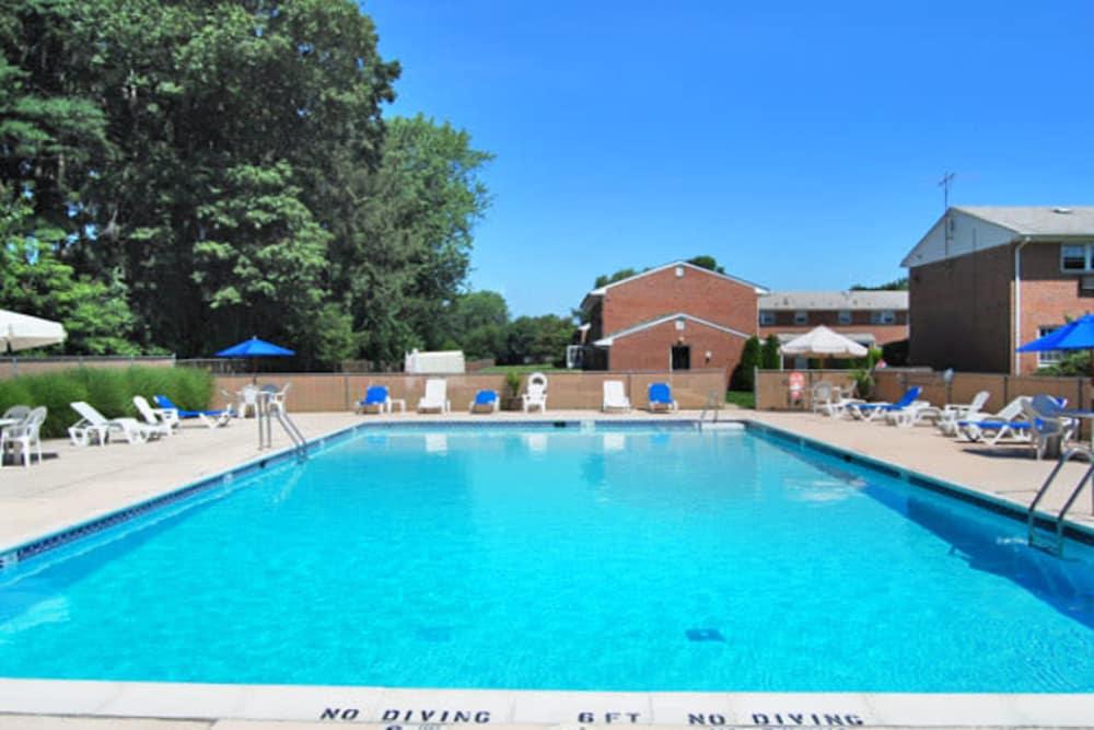 Beautifully swimming pool at The Manor at Spring Lake in Spring Lake, New Jersey