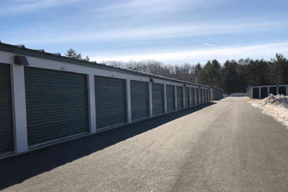 Exterior storage units at Safe Storage in Hollis, Maine