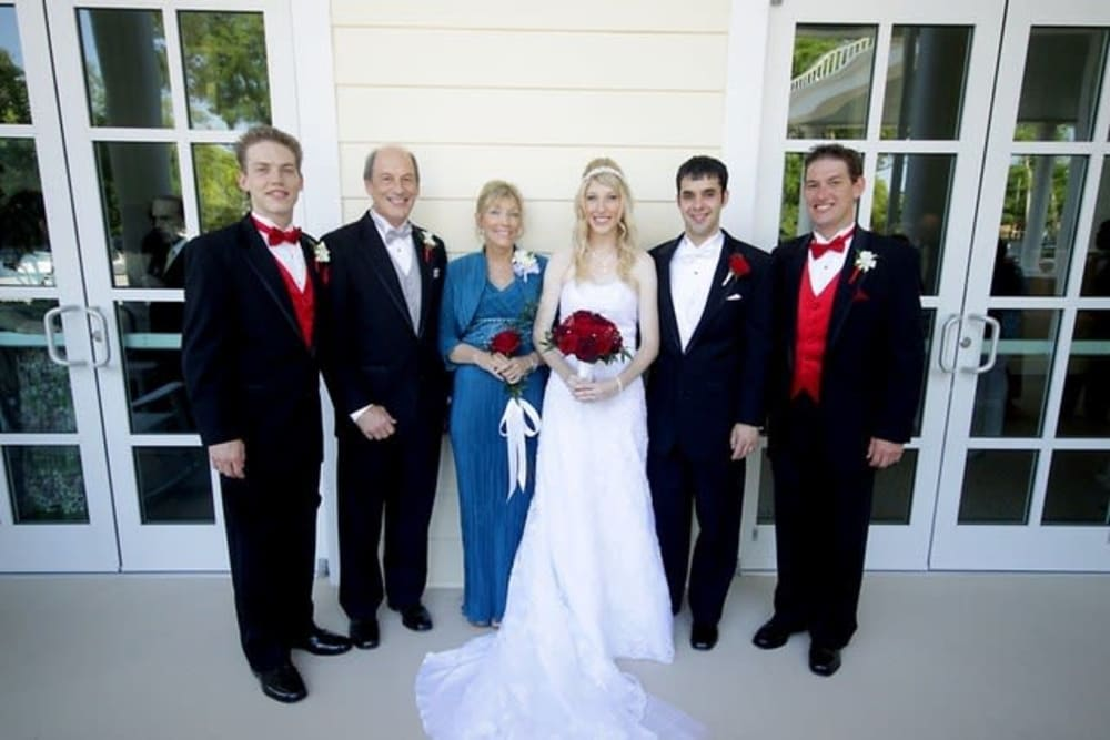 Inspired Living Ocoee Father of the Year award winner and Family