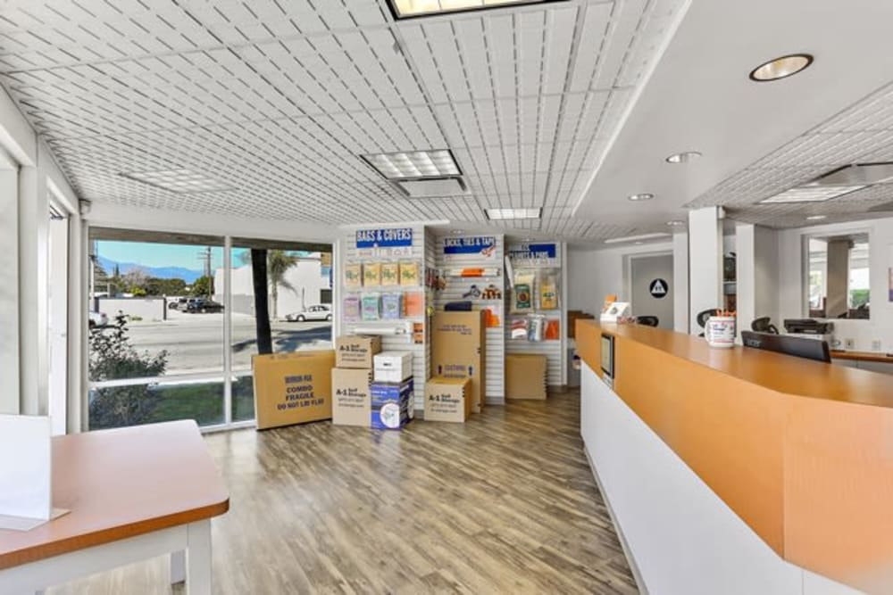 Packing and moving supplies available at A-1 Self Storage in El Monte, California