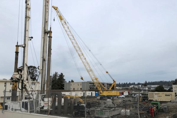 The Vista under construction in Esquimalt, British Columbia.