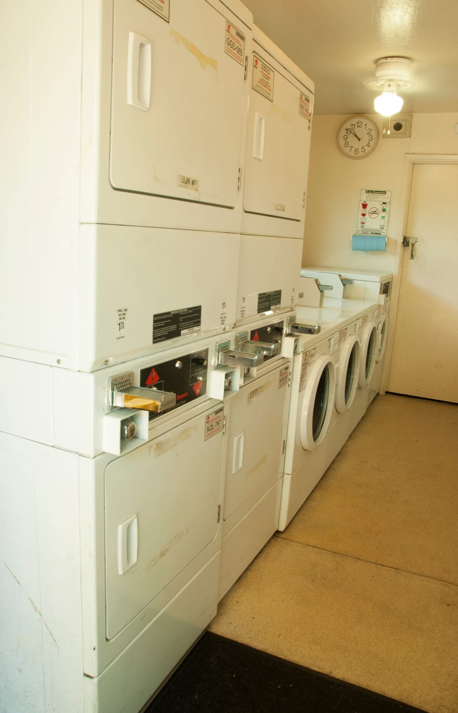 Laundry facility at Buchanan Gardens in Antioch, California