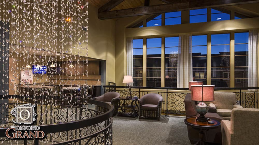 upscale lounge at The Oxford Grand Assisted Living & Memory Care in Wichita, Kansas