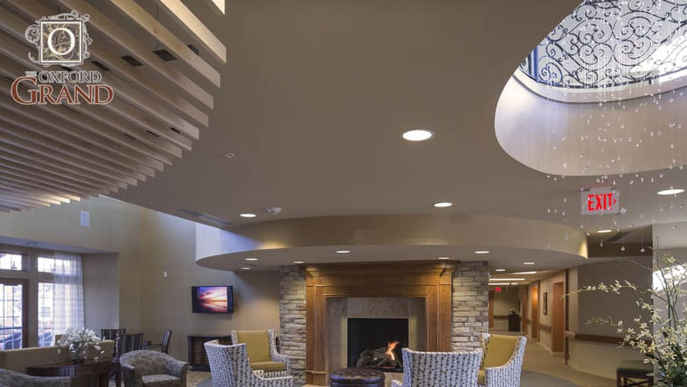 Lounge area at The Oxford Grand Assisted Living & Memory Care in Wichita, Kansas