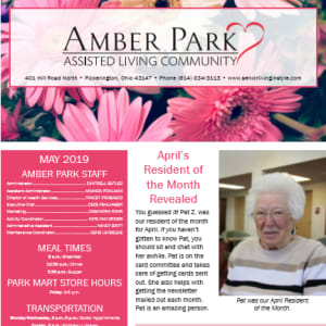 May Amber Park newsletter