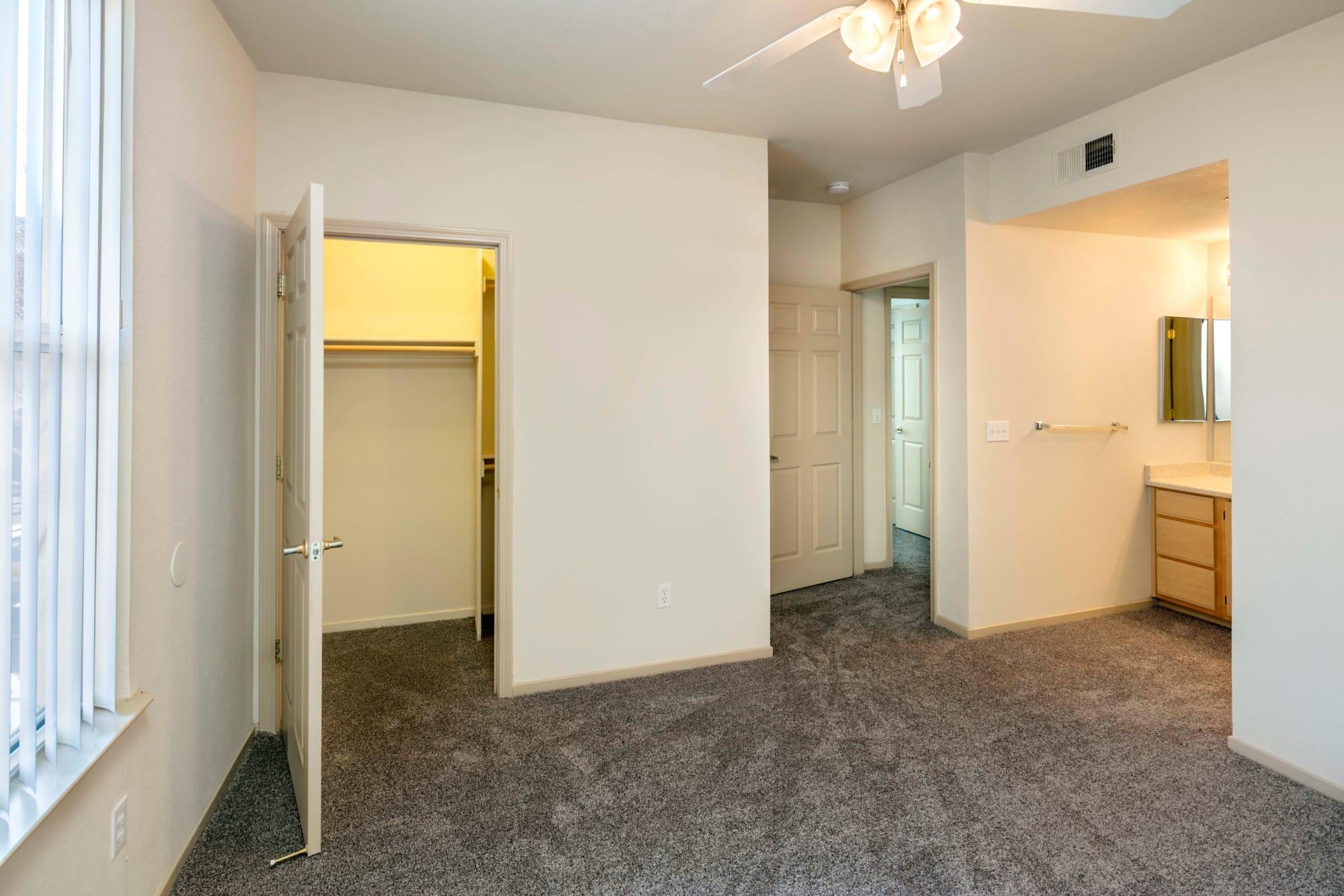 A bedroom at Natomas Park Apartments in Sacramento, California