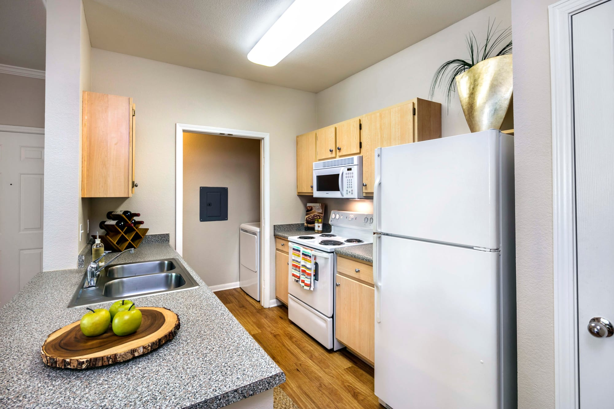 A well decorated kitchen at Miramonte and Trovas in Sacramento, California