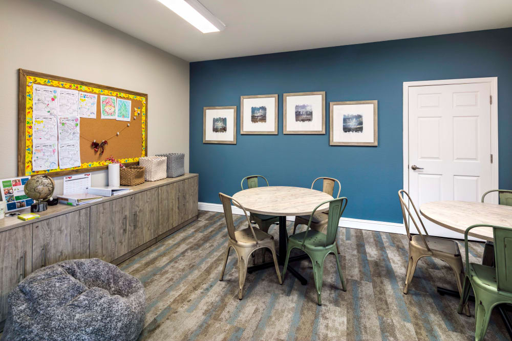 Community common area for resident use at Natomas Park Apartments in Sacramento, California