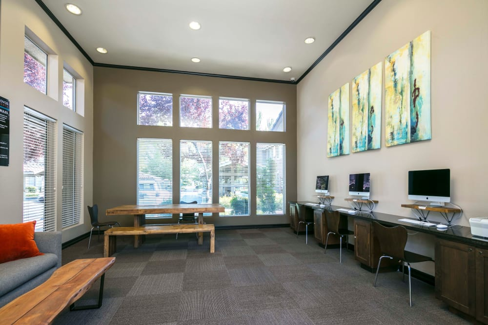 Community common area for resident use at Miramonte and Trovas in Sacramento, California