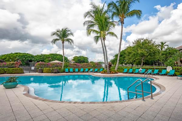 Beautiful swimming pool area at San Merano at Mirasol in Palm Beach Gardens