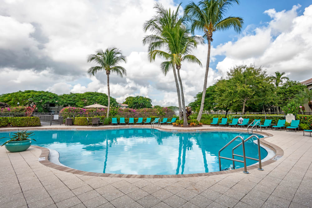Pool at apartments in Palm Beach Gardens, Florida