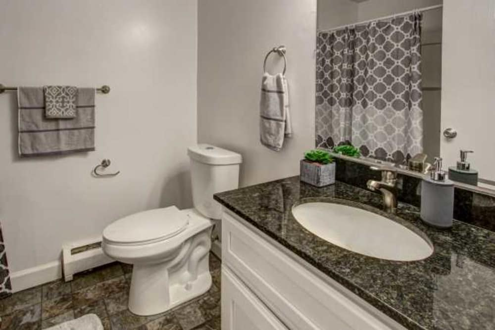 Enjoy apartments with a unique bathroom at High Meadow