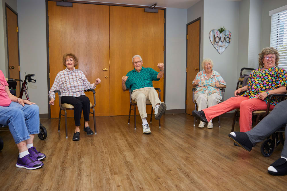Shorewood Senior Living in Florence, Oregon offers exercise meetings