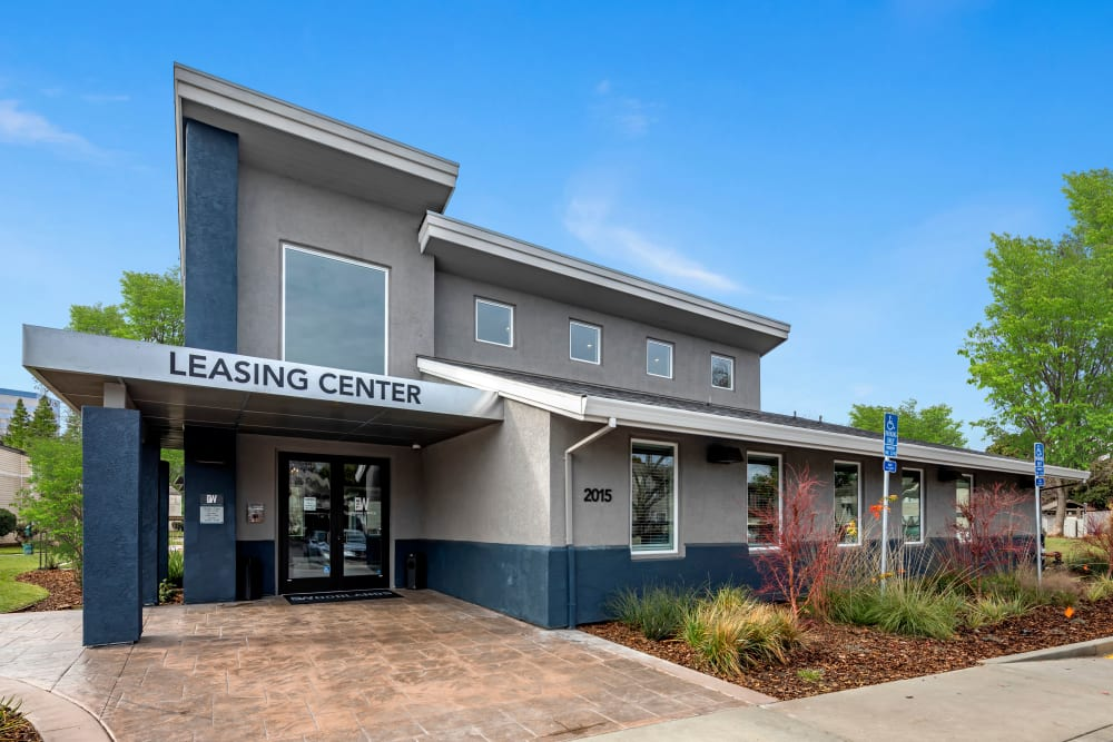 The leasing center at The Woodlands Apartments in Sacramento, California