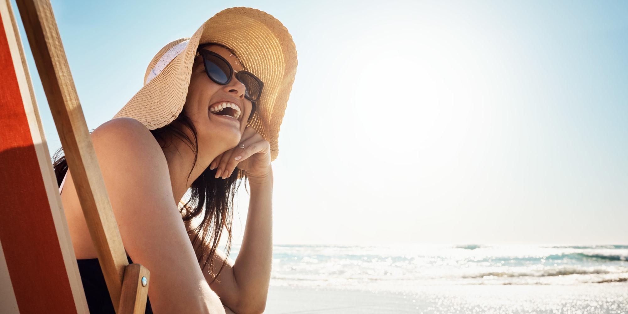 Woman enjoying the Florida coast