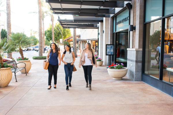 Residents shopping near Bellagio in Scottsdale, Arizona
