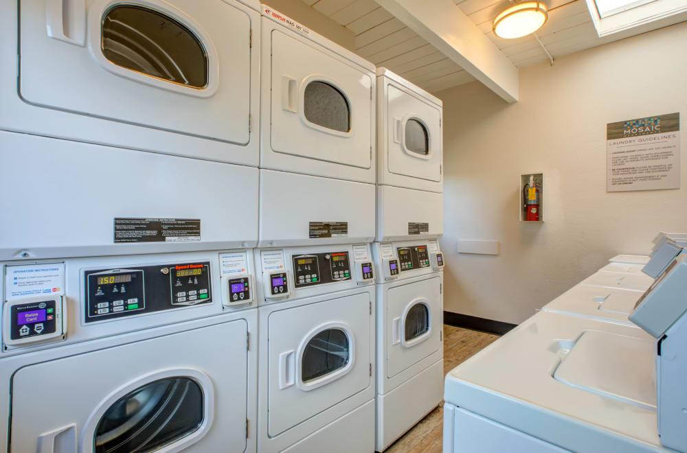 Laundry center available at Mosaic Hayward in Hayward, California