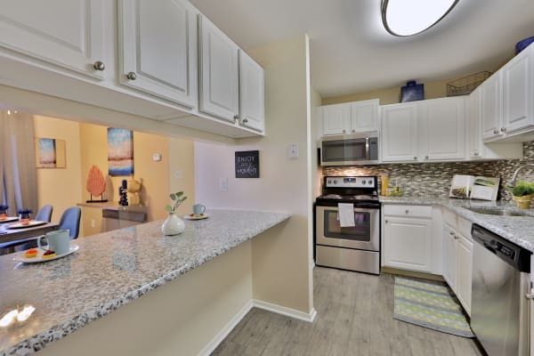 Fully Equipped Kitchen at Silver Spring Station Apartment Homes