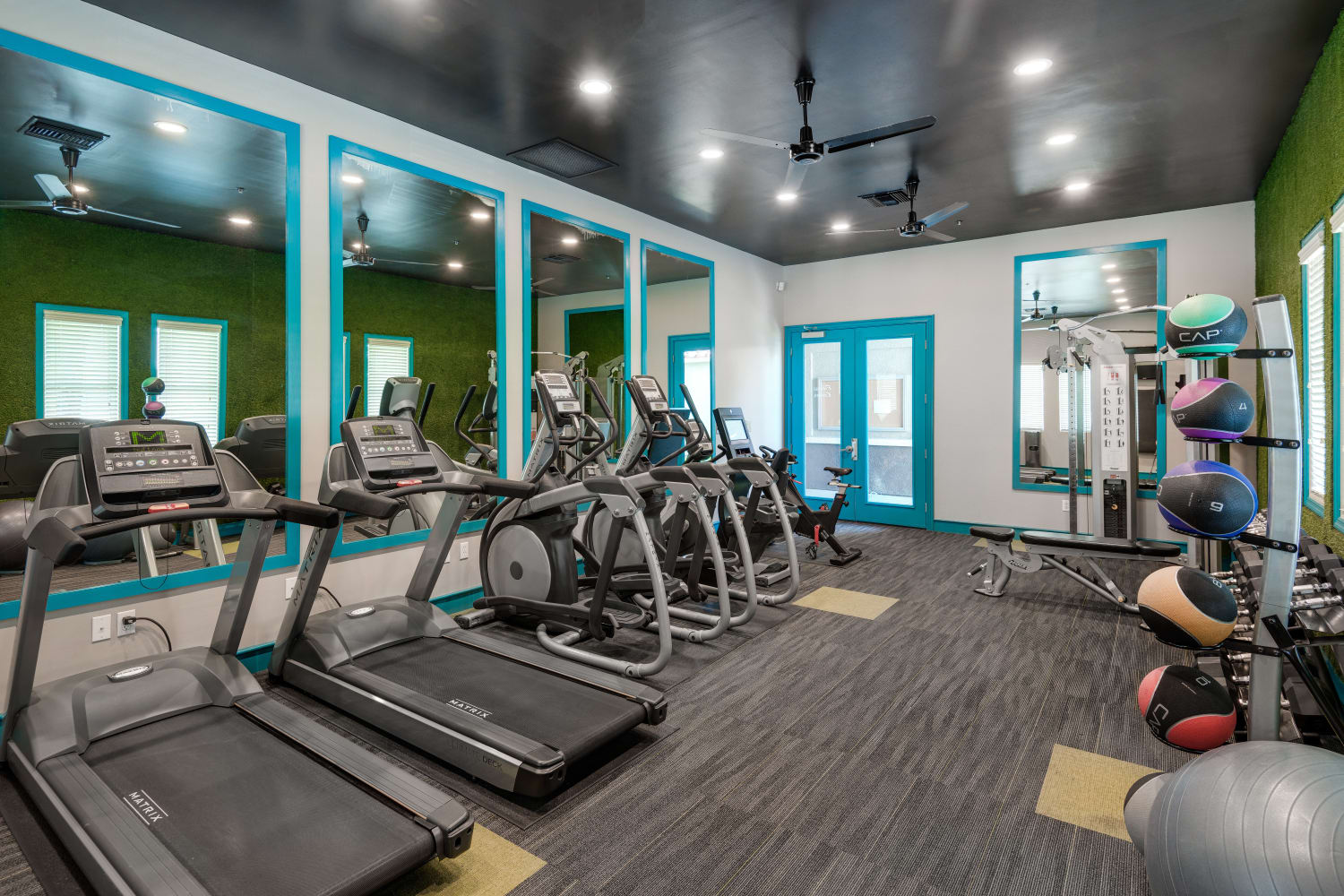 Fitness equipment at Madrid Apartments in Mission Viejo, California