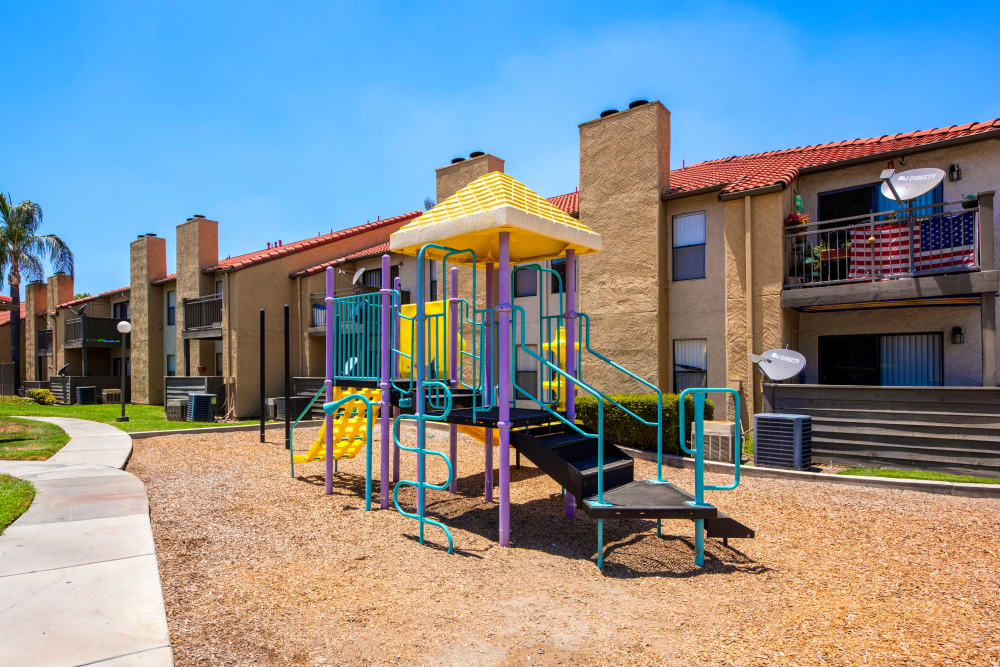 One of two play structures at Alvista Terrace