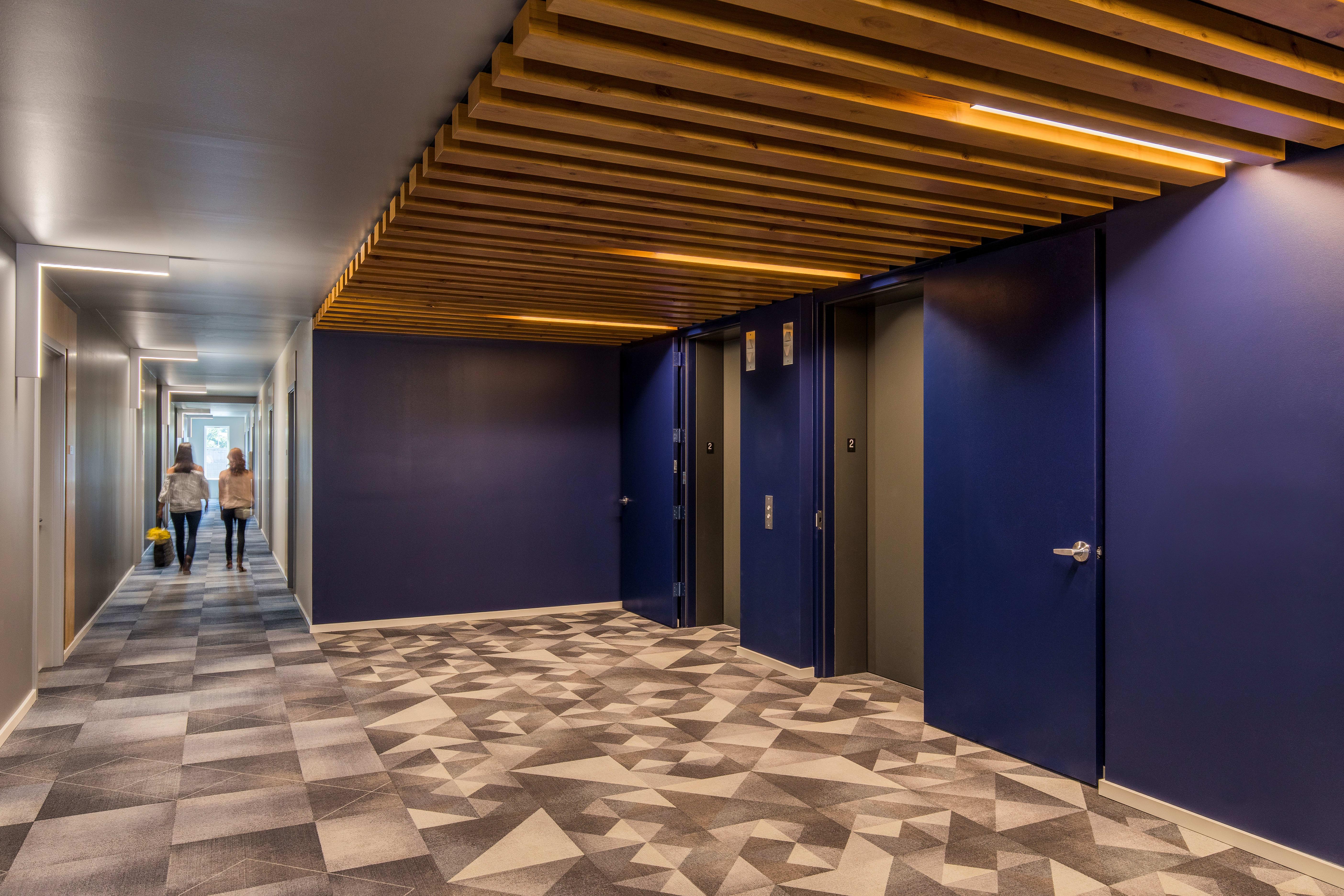 Large hallway at Grant Park Village in Portland, Oregon