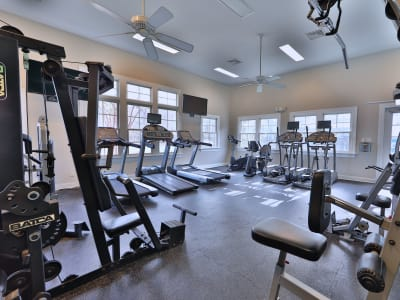 Indoor fitness center at St. Mary's Landing Apartments & Townhomes in Lexington Park, MD