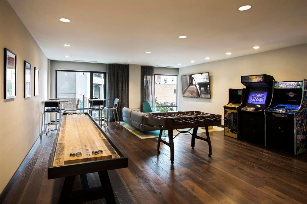 Vela on the Park offers a recreation room in Stamford, Connecticut