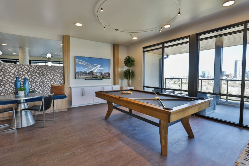 Our Apartments in Denver, Colorado offer a Clubhouse w/ a Pool Table