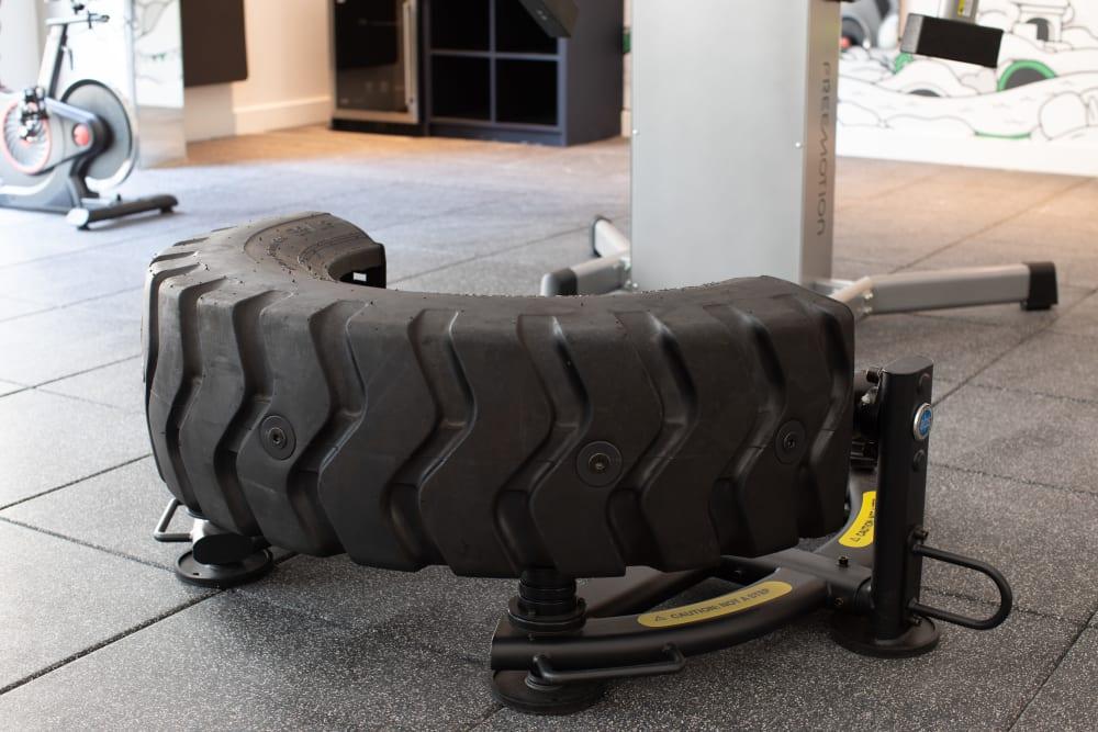 Tire flip equipment at  in San Antonio,TX