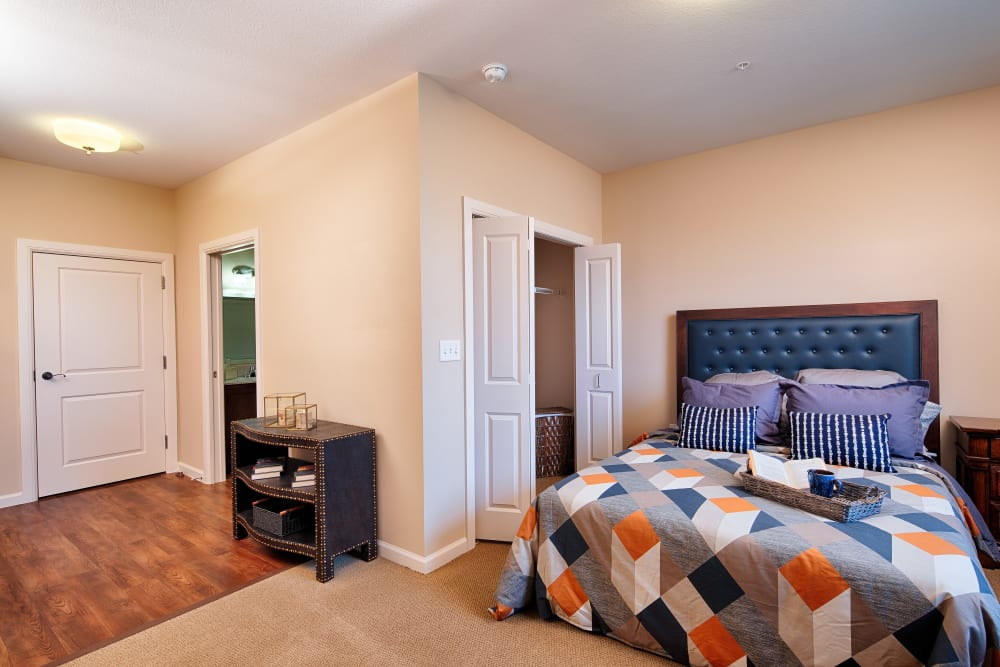 Resident bedroom at The Fountains of Hope in Sarasota, Florida.