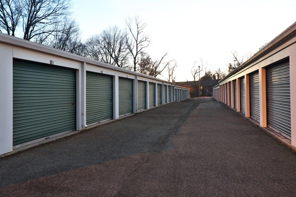 green door storage units at StayLock Storage in Mauldin, South Carolina